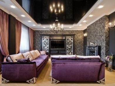 Дизайн интерьера в стиле ар деко в темном цвете