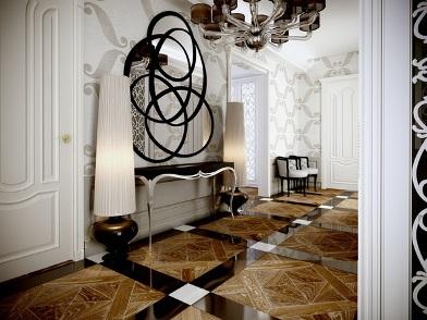 Дизайн интерьера в стиле ар деко с мрамором