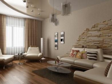 Дизайн интерьера квартиры в новостройке в гостиной