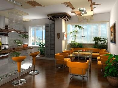 Дизайн интерьера квартиры в новостройке современного города
