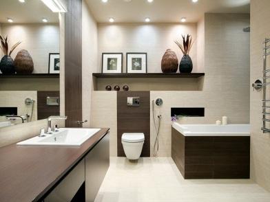 Дизайн интерьера совмещенного санузла в стиле классика