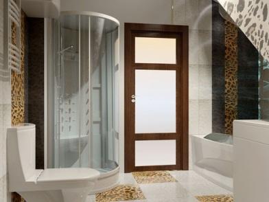 Дизайн интерьера совмещенного санузла с душевой