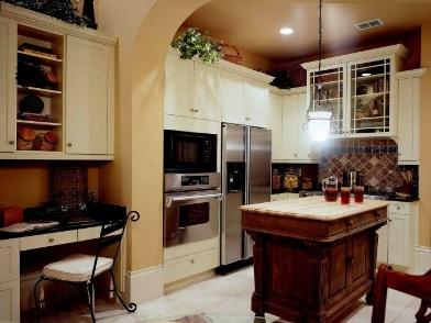 Дизайн интерьера в стиле ретро кухни