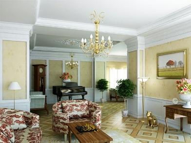 Дизайн интерьера в стиле ретро с роялью