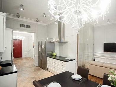 Дизайн интерьера в брежневке на кухне