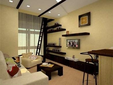Дизайн интерьера в брежневке в гостиной