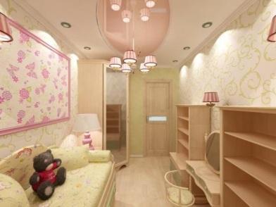 Дизайн интерьера в брежневке в детской
