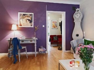 Фиолетовый цвет в дизайне интерьера в стиле модерн