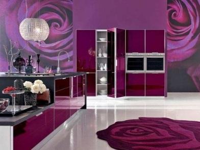 Фиолетовый цвет в дизайне интерьера в студии