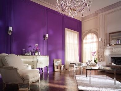 Фиолетовый цвет в дизайне интерьера в стиле рококо