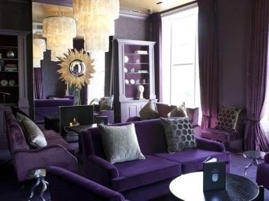 модный Фиолетовый цвет в дизайне интерьера