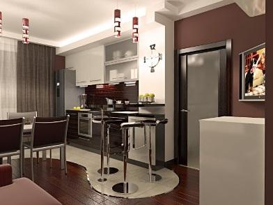 дизайн интерьера для молодого человека на кухне