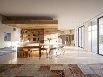 Минималистический дизайн интерьера столовой