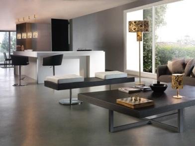 Минималистический дизайн интерьера в серых тонах