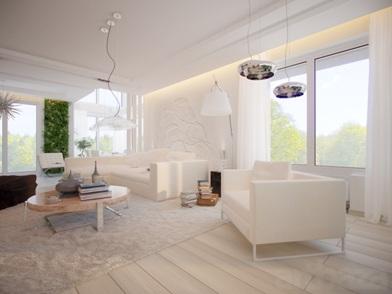 Минималистический дизайн интерьера комнаты отдыха