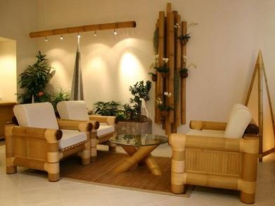 Бамбук в дизайне интерьера отеля