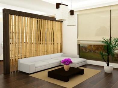 Бамбук в дизайне интерьера комнаты отдыха