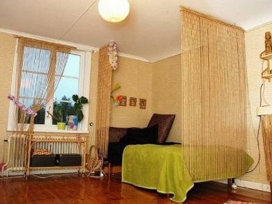 Бамбук в дизайне интерьера спальни