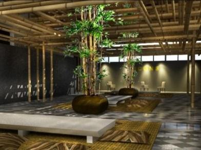 Бамбук в дизайне интерьера на втором этаже