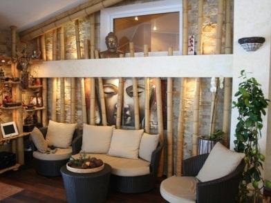 Бамбук в дизайне интерьера салона красоты