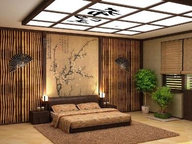Бамбук в дизайне интерьера в японском стиле