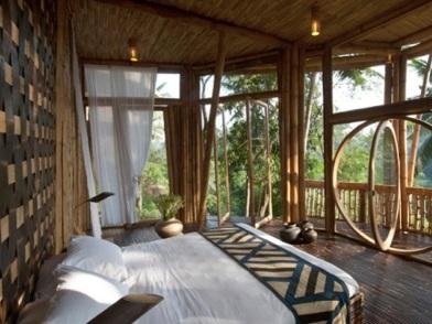 Бамбук в дизайне интерьера веранды