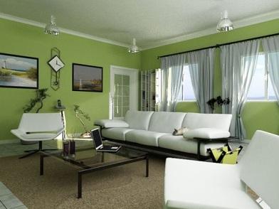 дизайн интерьера в зеленых тонах в квартире
