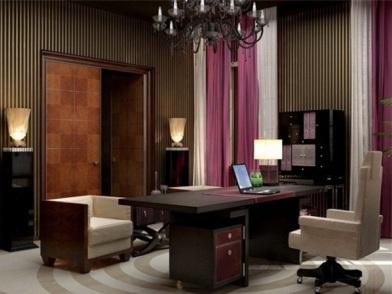 Дизайн интерьера кабинета в квартире в темных тонах