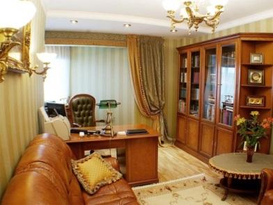 Дизайн интерьера кабинета в квартире в стиле модерн