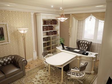 Дизайн интерьера кабинета в квартире в стиле прованс