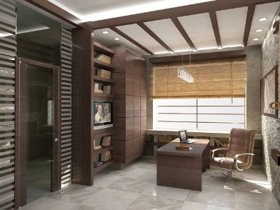 Дизайн интерьера кабинета в квартире в японском стиле