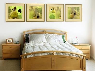дизайн картин в интерьере квартир в спальне