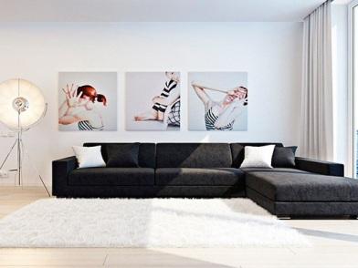 дизайн картин в интерьере квартир в студии