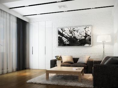 дизайн картин в интерьере квартир в гостиной