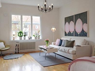дизайн картин в интерьере квартир в шведском стиле