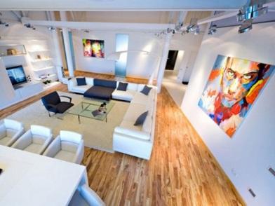 дизайн картин в интерьере квартир пентхаусе