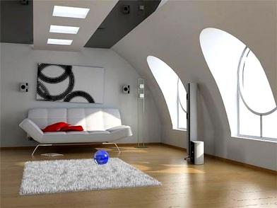 дизайн картин в интерьере квартир мансарде
