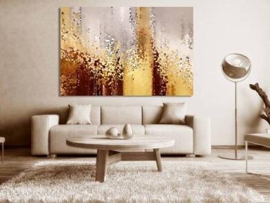 дизайн картин в интерьере квартир в бежевом цвете
