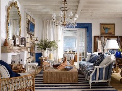 Дизайн интерьера в морском стиле в перемешку с прованс
