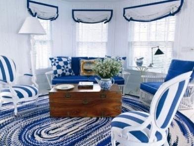 Дизайн интерьера в морском стиле в загородном доме