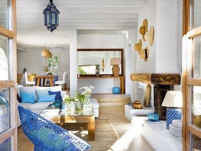 Дизайн интерьера в морском стиле на даче
