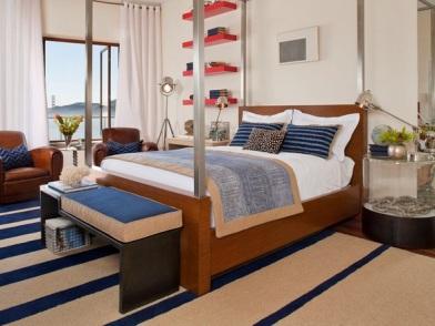 Дизайн интерьера в морском стиле в отеле
