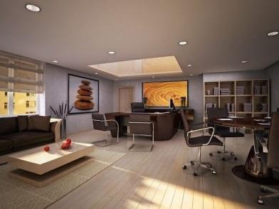 дизайн интерьеров офисных помещений в коричневом цвете