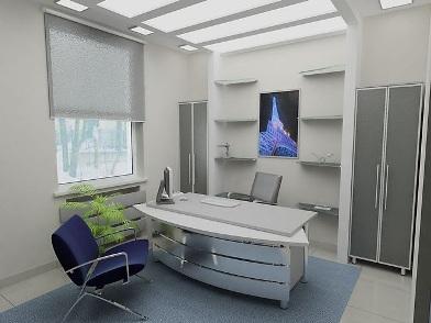 дизайн интерьеров офисных помещений в сером цвете