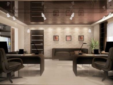 дизайн интерьеров офисных помещений с кирпичной стеной