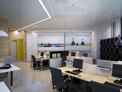 дизайн интерьеров офисных помещений в стиле хайтек